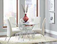 Torino Modern Chrome & White Leather Dinning Set Charlotte, 28216