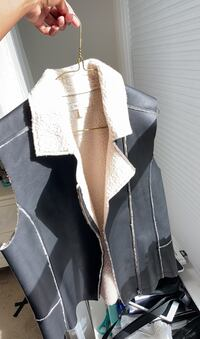 Back Leather Vest Jacket with Soft Inner Ashburn, 20148