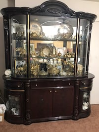 Cherry color china cabinet