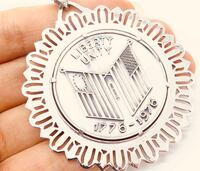 RARE sterling coin necklace signing of Declaration of Independence