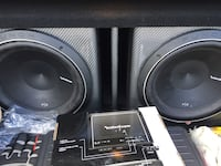"Black and gray Rockford p2s 12"" $300 for the speakers only or 500 for the box and speakers  Wenatchee, 98801"