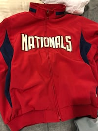 red and white Nike zip-up jacket New York, 10033