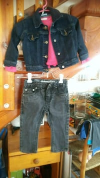 Denim jacket, jeans and pink blouse Zion, 60099