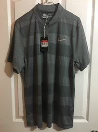 Nike gold polo shirt size L new with tags