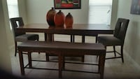 brown wooden dining table with chairs Winter Garden, 34787