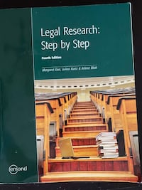 Legal Research: Step by Step, Fourth Edition Toronto