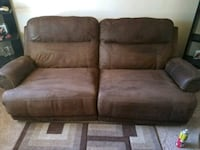 brown suede 2-seat recliner sofa Commerce City, 80022