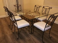 Wrought iron dining table with six chairs Citrus Heights, 95610