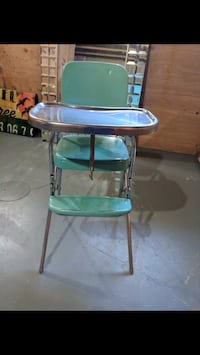 baby's green and blue high chair Calgary, T3M 0T2