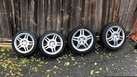 4 OEM 17 inch Mercedes Rims with SNOW TIRES 561 km
