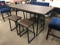 5pc industrial geo counter dining table set Alexandria, 22312
