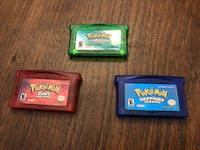 Pokémon Emerald, Ruby, and Sapphire for Gameboy Advance Richmond Hill, L4C 7P6