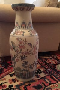 Hand painted decorative tall  vase