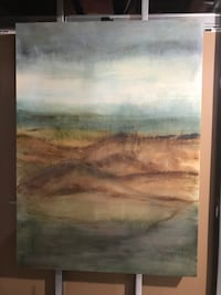 brown wooden framed painting of river West Lincoln, L0R