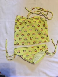 2T baiting suit swim suit monkey print yellow great shape $5 no rips or stains Hagerstown, 21740