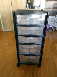 black and clear plastic 5-drawer chest Tampa, 33611