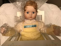 Danbury Mint collection sitting baby doll Frederick, 21703