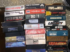 Kinds of movies 42 tape $2 for each