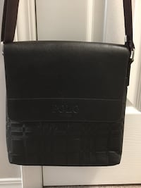 Black leather 2-way bag Calgary, T3J 3Z1