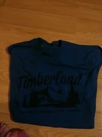 blue and black Timberland crew-neck t-shirt Lethbridge, T1H 4T6