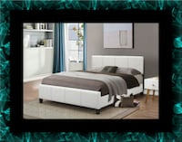 White platform bed with mattress and box all size Crofton