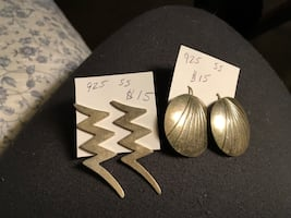 925 earrings  lightning bolt sold