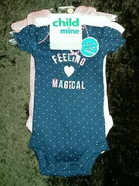 Child of Mine new 3 pack premier body suits.  Victorville, 92395