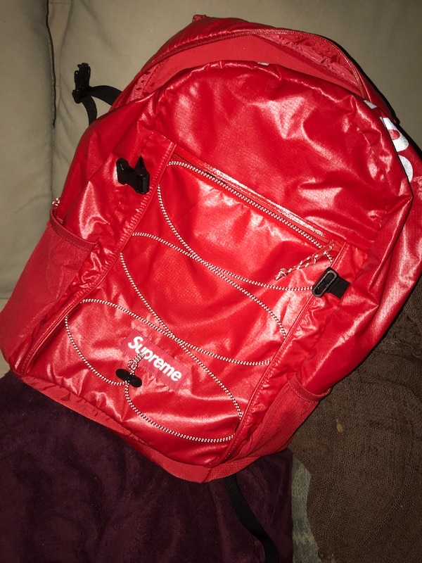 4fc4ce26f Used Red Supreme Backpack SS17 Week 1 Drop for sale in Concord - letgo