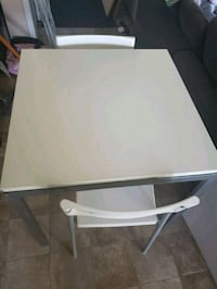 rectangular white table with gray metal bas London, N6A 3A8