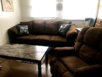 brown and black fabric sectional sofa Milwaukee, 53218