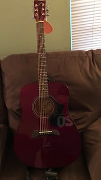 First Act Acoustic Red Guitar with Pick Mays Landing, 08330