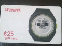 $25 Running Room Gift Card Calgary, T1Y 3L4