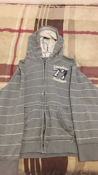 gray and white striped zip-up hoodie Sault Ste Marie, P6C 4B5