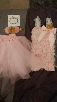 Baby girl pink & gold outfit Toronto, M2J 4P9
