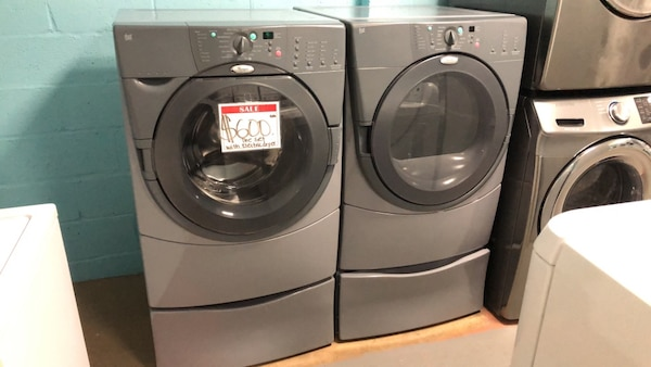 Whirlpool washer and dryer set 90 days warranty 501e4c3c-576a-4132-ae51-1ee2a003b32e