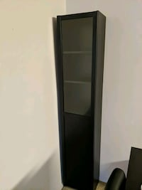 Ebony Cabinet with 1/2 Glass Door Silver Spring, 20910