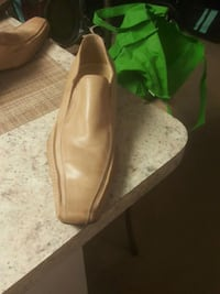 pair of brown leather loafers 372 mi
