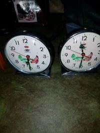 two round white analog wall clocks Falls Church, 22041