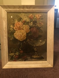 brown wooden framed painting of white flowers Memphis, 38116