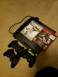 black Sony PS3 slim console with controller and game cases Grove City, 43123