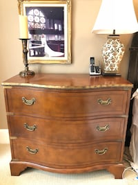 Leather Wood Chest Side Dresser Windermere, 34786