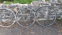 two black and gray bicycle wheels Vista, 92081