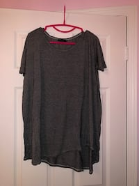 Talula grey and white stripped T-shirt long top Markham, L3P 1W2