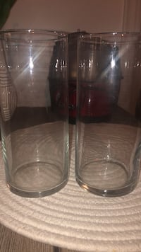 3 clear, glass cylinder vases Toronto, M6K 0A2