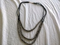 black and silver beaded necklace Ottawa, K2S 1T1