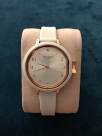 """Authentic Kate Spade """"Park Row"""" ladies quartz. Rose Gold and starling mint color face and dial. Kate Spade signature """"bow"""" adjust-dial. Silicone band ideal for daily use and wear and tear hardy. Worn for 1 week only. Mint condition. Burbank, 91505"""
