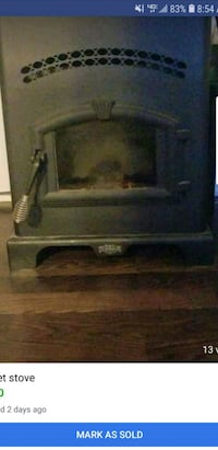 black and gray electric fireplace Crane, 65633