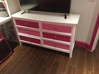 white and pink wooden dresser Orlando, 32807