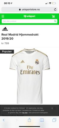 Real Madrid drakt for kommentar sesong Oslo, 0984