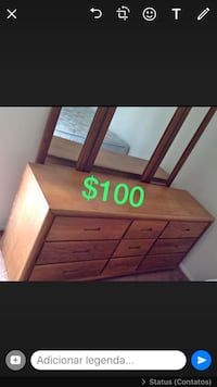 Brown wooden dresser with mirror Orlando